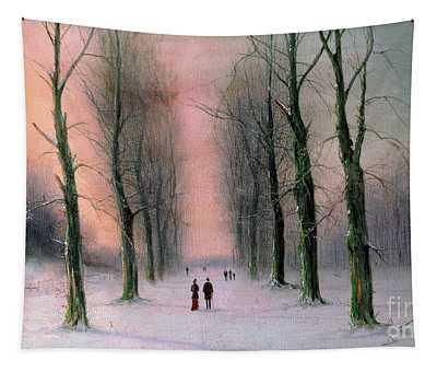 Snow Scene Wanstead Park   Tapestry