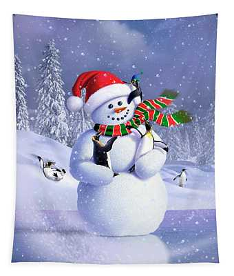 Snowman Tapestry