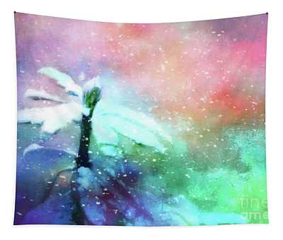 Snowy Winter Abstract Tapestry