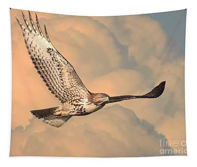 Soaring Hawk Tapestry