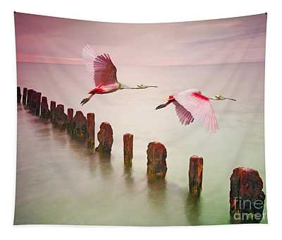 Spoonbill Photographs Wall Tapestries