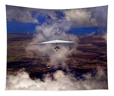 Soaring Through The Clouds Tapestry