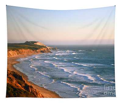 Socal Sunset Ocean Front Tapestry