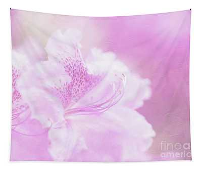 Soft And Lovely Pink Rhododendrons  Tapestry
