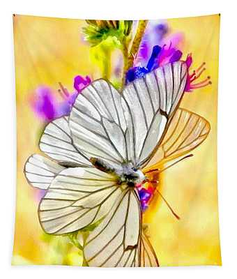 Soft And Wet Moth Tapestry