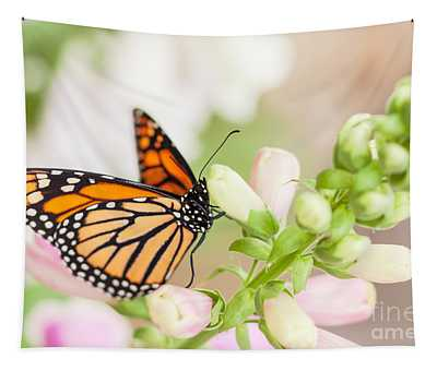 Soft Spring Butterfly Tapestry