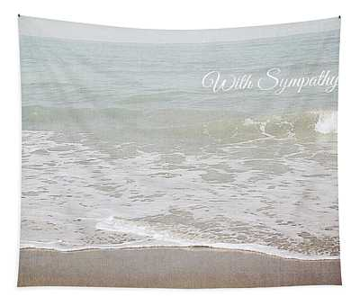 Soft Waves Sympathy Card- Art By Linda Woods Tapestry