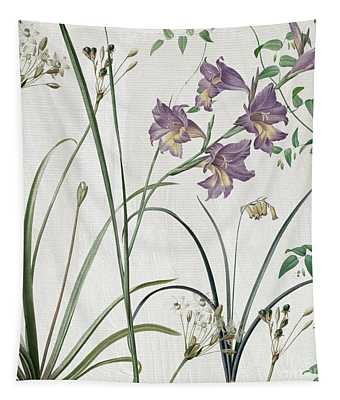 Softly Purple Crocus Tapestry
