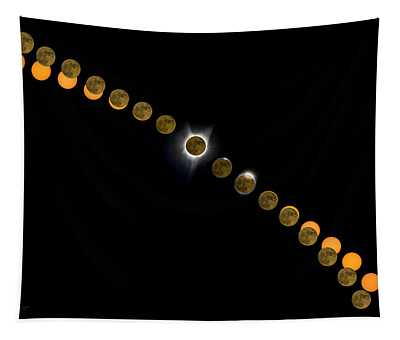 Solar Eclipse Stages 2017 Tapestry