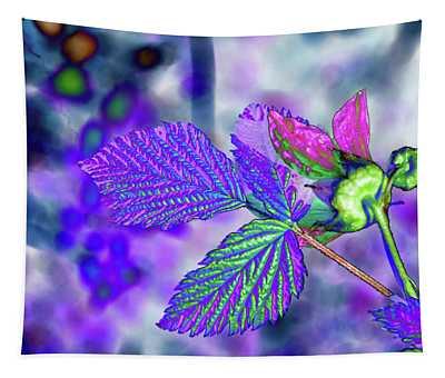 Solarized Salmonberry Flower Tapestry