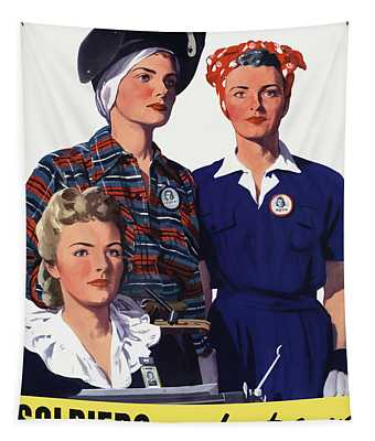 Soldiers Without Guns - Women War Workers - Ww2  Tapestry