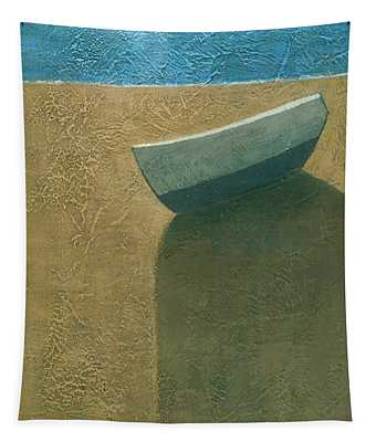 Solitary Boat Tapestry