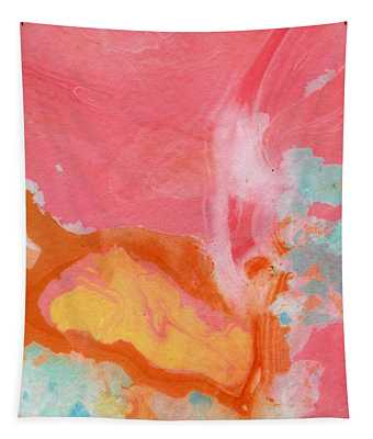 Somewhere New 2- Abstract Art By Linda Woods Tapestry