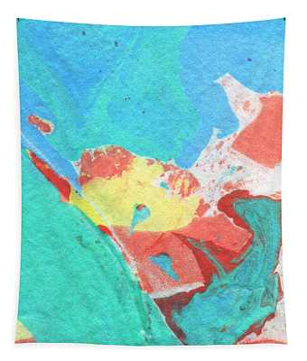 Somewhere New 3- Abstract Art By Linda Woods Tapestry
