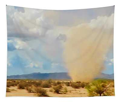 Sonoran Desert Dust Devil Tapestry