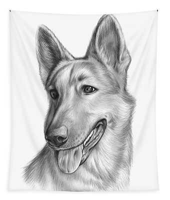Pet Portrait Drawings Wall Tapestries