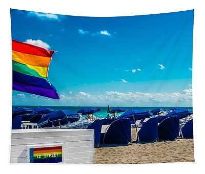 South Beach Pride Tapestry