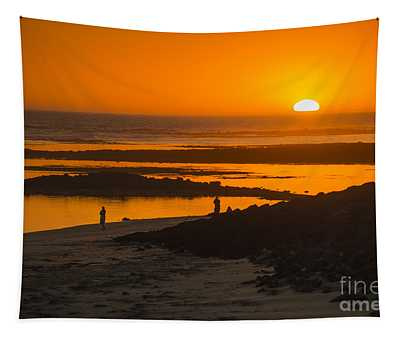 South Beach Sunset Tapestry
