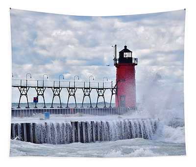 South Haven Lighthouse Tapestry