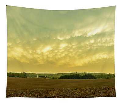 Thunder Storm Over A Pennsylvania Farm Tapestry