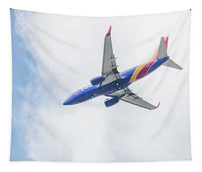 Southwest Airlines With A Heart Tapestry