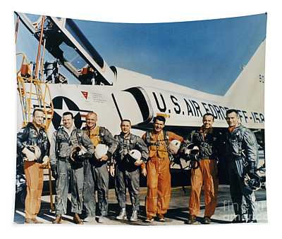 Space: Astronauts, C1961 Tapestry