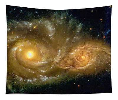 Space Image Spiral Galaxy Encounter Tapestry