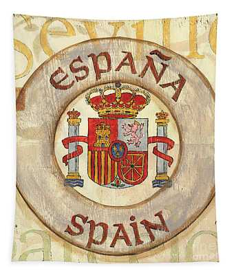 Spain Coat Of Arms Tapestry