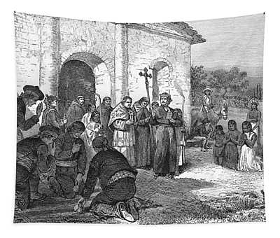 Spanish Mission Of The Alamo Tapestry