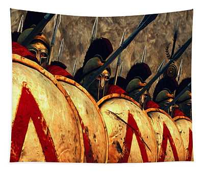 Spartan Army - Wall Of Spears Tapestry