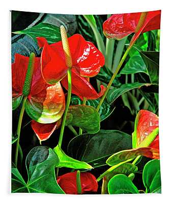 Spathiphyllum Flowers Peace Lily Tapestry