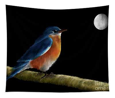 Spellbound By The Light Of The Silvery Moon Tapestry