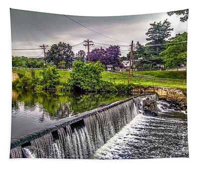 Spillway At Grace Lord Park, Boonton Nj Tapestry