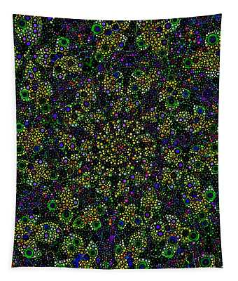 Spiral Glass Refractl Tapestry