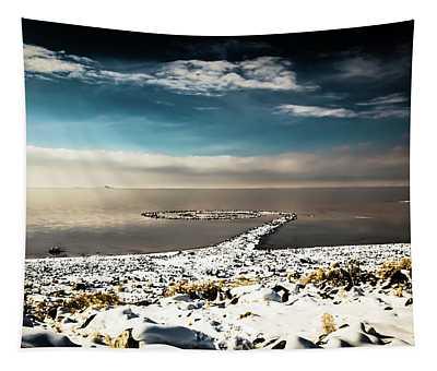 Spiral Jetty In Winter Tapestry