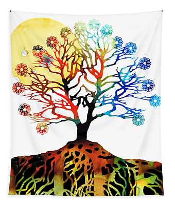 Spiritual Art - Tree Of Life Tapestry