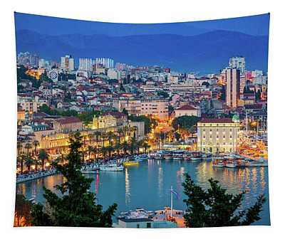 Split Evening Panorama Tapestry