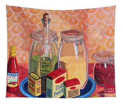 Split Peas And Spices Tapestry