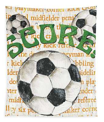 Sports Fan Soccer Tapestry