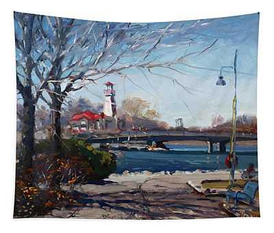 Spring At Port Credit Tapestry