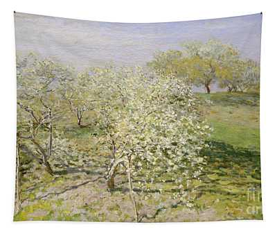 Spring, Fruit Trees In Bloom, 1873 Tapestry