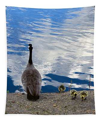 Spring Goslings And Mother Goose Tapestry