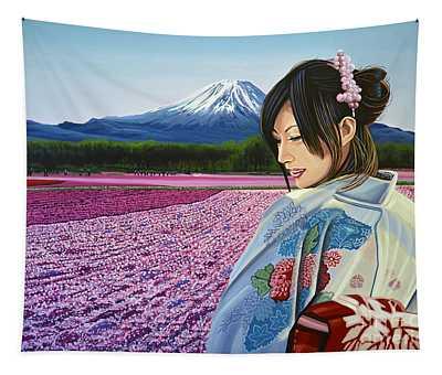 Spring In Japan Tapestry