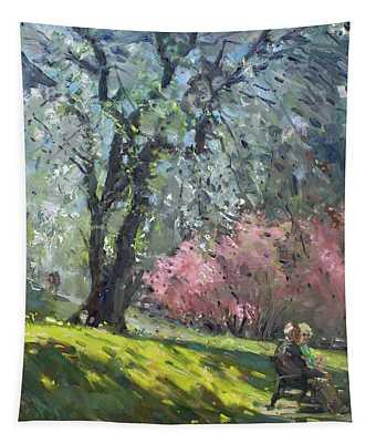 Spring In The Park Tapestry