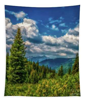 Springtime In The Rockies Tapestry