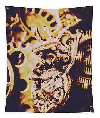 Sprockets And Clockwork Hearts Tapestry