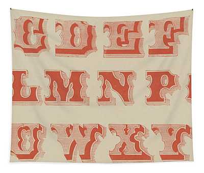 Spurred Letter Tapestry