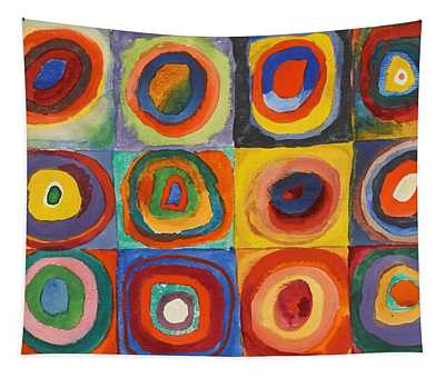 Squares With Concentric Circles Tapestry