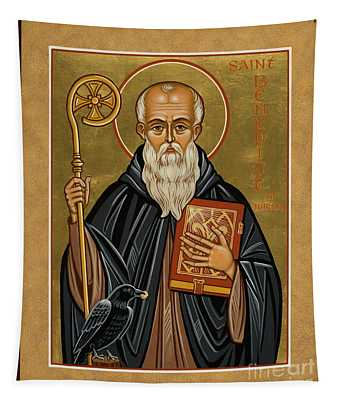 St. Benedict Of Nursia - Jcbnn Tapestry
