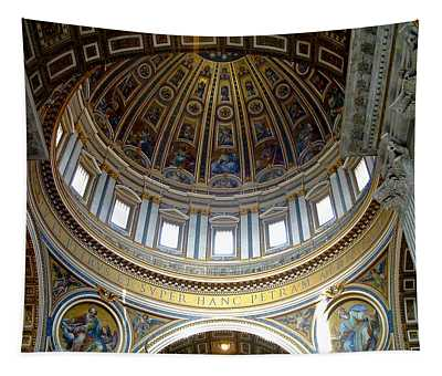 St. Peters Basilica Dome Tapestry